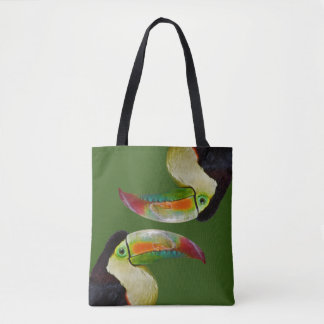 Rainbow-Billed Toucan All Over Print Bag (Green)
