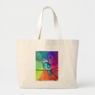 Rainbow Bird Print Jumbo Tote Bag