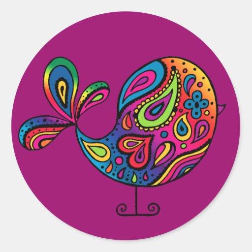 Rainbow Bird Sticker