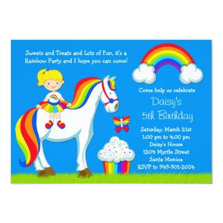 Rainbow Birthday Party Invitation