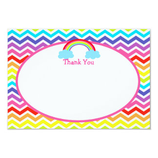 Rainbow Birthday Thank You Cards
