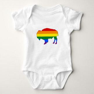Rainbow Bison Baby Bodysuit