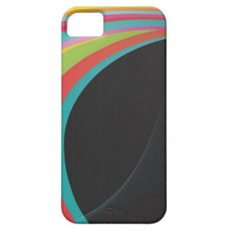 Rainbow Black Background Case For The iPhone 5