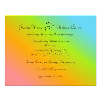 Rainbow Blend - You re Invited Invitations