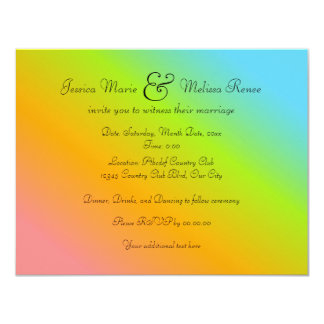 Rainbow Blend - You're Invited Card