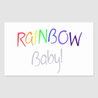 Rainbow Blessing Rectangular Sticker