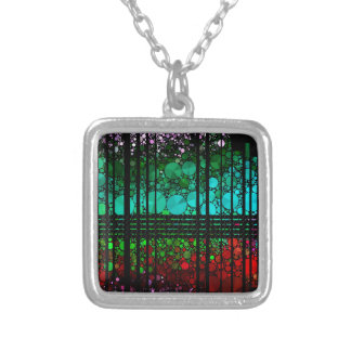 Rainbow Bling Pattern Silver Plated Necklace