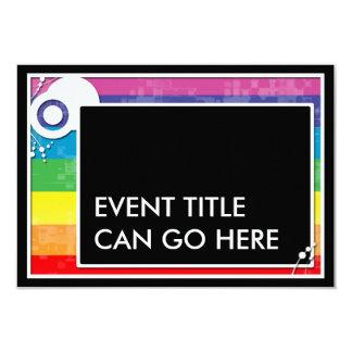rainbow block scheme 9 cm x 13 cm invitation card