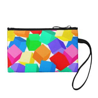 Rainbow blocks coin purse