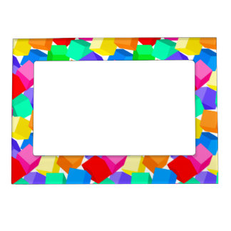 Rainbow blocks magnetic picture frame