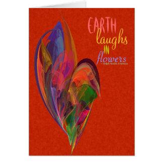 Rainbow Blossom Fractal Card
