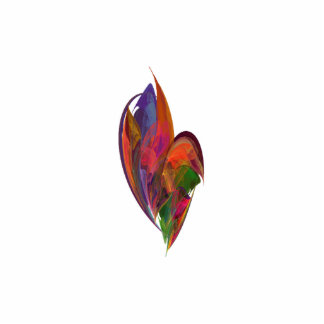 Rainbow Blossom Fractal Photo Sculpture Badge