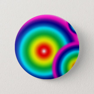 Rainbow Blur 6 Cm Round Badge