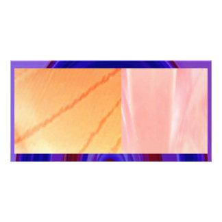 RAINBOW Bold - Royal Blue n Red Custom Photo Card