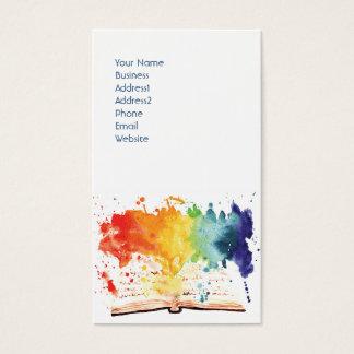 Rainbow Book Business Card Design