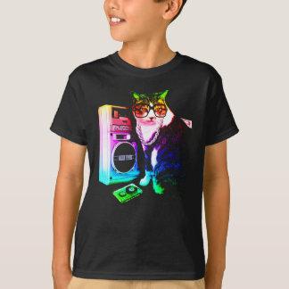 Rainbow Boombox Cat T-Shirt