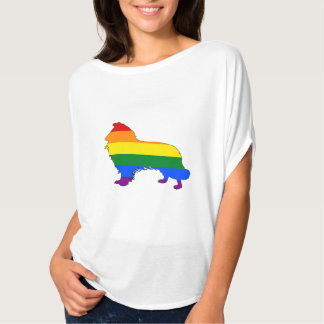 Rainbow Border Collie T-Shirt