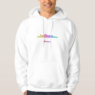 Rainbow Boston skyline Hoodie