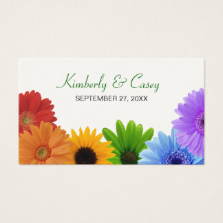 Rainbow Bouquet Placecard Business Card
