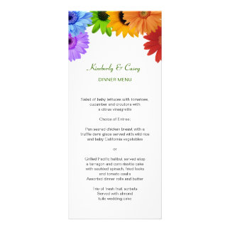 Rainbow Bouquet Wedding Rack Card