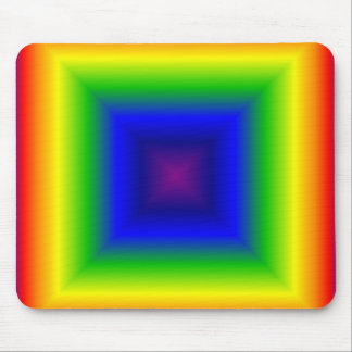 Rainbow box mouse pad