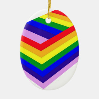 RAINBOW BOX PRIDE CERAMIC OVAL DECORATION