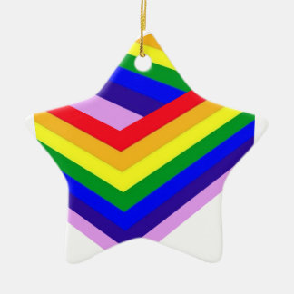 RAINBOW BOX PRIDE CERAMIC STAR DECORATION