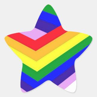 RAINBOW BOX PRIDE STAR STICKER
