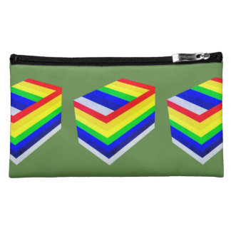 rainbow box Sueded Medium Cosmetic Bag