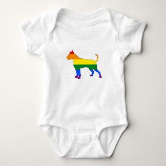 Rainbow Boxer Baby Bodysuit
