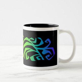 rainbow branch Two-Tone mug