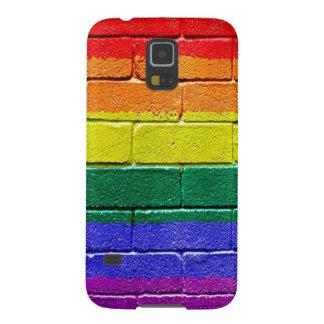 Rainbow Brick Wall Galaxy S5 Cover
