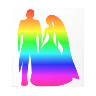 Rainbow Bride And Groom Notepad