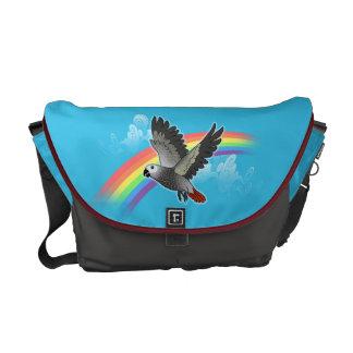 Rainbow bridge african grey parrot courier bags