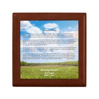 Rainbow Bridge Dog Sympathy Gift Box, MALE Version Gift Box