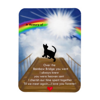Rainbow Bridge for Cats Magnet
