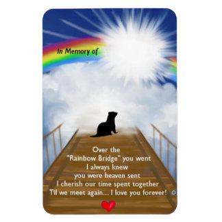 Rainbow Bridge for Ferrets Rectangular Photo Magnet