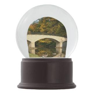 Rainbow Bridge in Fall at Grove City College Snow Globe