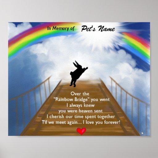 Rainbow Bridge Memorial for Rabbits Posters