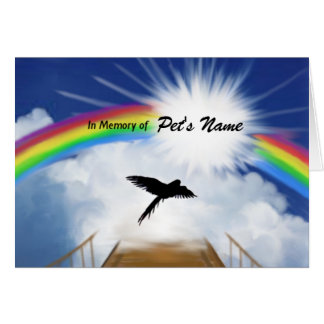 Rainbow Bridge Memorial Poem for Birds Card
