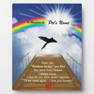 Rainbow Bridge Memorial Poem for Birds Photo Plaques