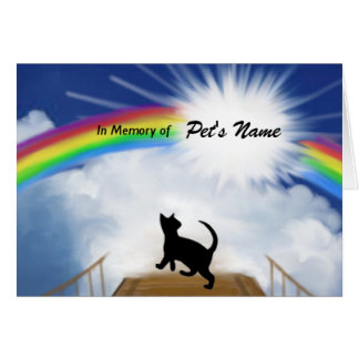 Rainbow Bridge Memorial Poem for Cats Card
