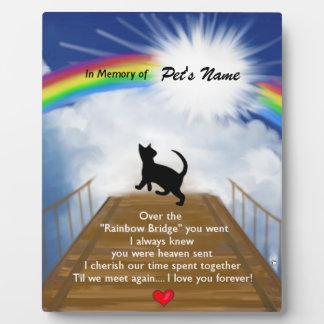 Rainbow Bridge Memorial Poem for Cats Plaque