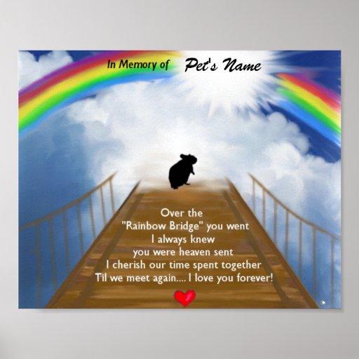 Rainbow Bridge Memorial Poem for Hamsters Print
