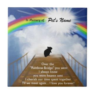 Rainbow Bridge Memorial Poem for Hamsters Small Square Tile