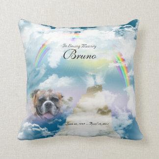 Rainbow Bridge Pet Dog Memorial Throw Pillow