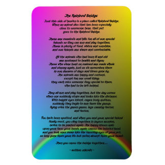Rainbow Bridge Pet Poem Magnet
