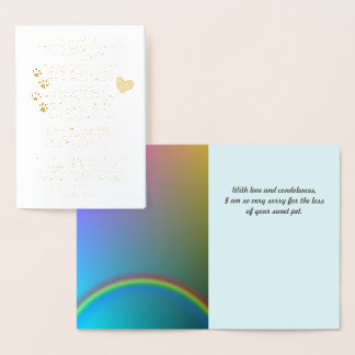 Rainbow Bridge Pet Sympathy Foil Card