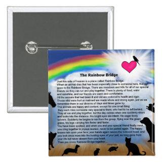 Rainbow Bridge Poem 15 Cm Square Badge