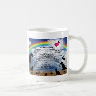 Rainbow Bridge Poem Basic White Mug